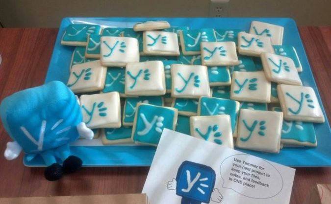Yammer Kickoff Cookies